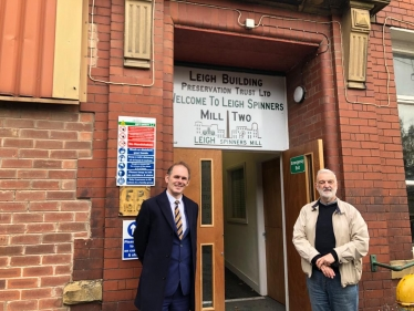 Visit to Leigh Spinners Mill